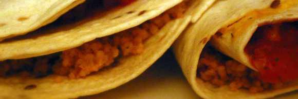 photograph of cous cous wrap