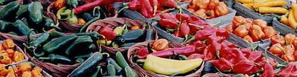 photograph of farmers' market produce
