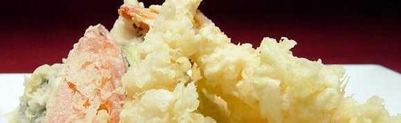 photograph of vegetable tempura